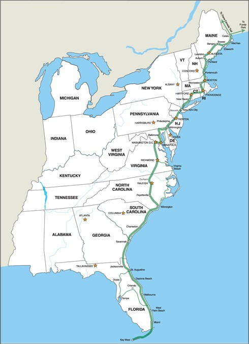 Inland Waterways Of The United States Wikipedia List Of Longest