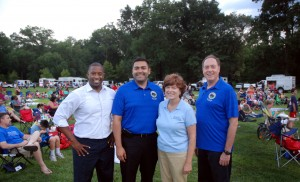 (From left) Union County Freeholder Vice Chairman Mohamed Jalloh joined Freeholders Sergio Granados, Bette Jane Kowalski and Bruce Bergen at the National Night Out event hosted by the Union County Board of Chosen Freeholders on August 5 in Meisel Park in Springfield. National Night Out, sponsored by the National Association of Town Watch, is a campaign geared toward generating drug and crime awareness and prevention throughout the country. (Photo by Jim Lowney/County of Union)