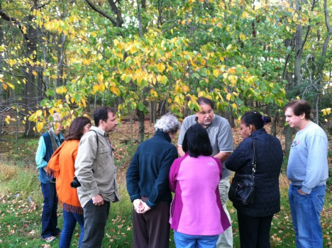 Senior park naturalist Joe Filo guides a group of adults on an autumn hike through the Watchung Reservation. Adults, ages 18 and older, are invited to join a Trailside Naturalist on a relaxing, guided walk on Saturday, Oct. 25, from 10:00 to 11:30 a.m. Discover the diversity of plants and animals as you enjoy the sights and sounds of this beautiful season.  Pre-registration is required, but walk-ins are welcome as space permits. The fee for this program is $10 for Union County residents and $12 for out-of-county participants.  For more information about upcoming programs at Trailside, please call 908-789-3670 or visit us online for our complete fall brochure at www.ucnj.org/trailside. Trailside Nature and Science Center is located at 452 New Providence Road in Mountainside and is a service of the Union County Board of Chosen Freeholders.