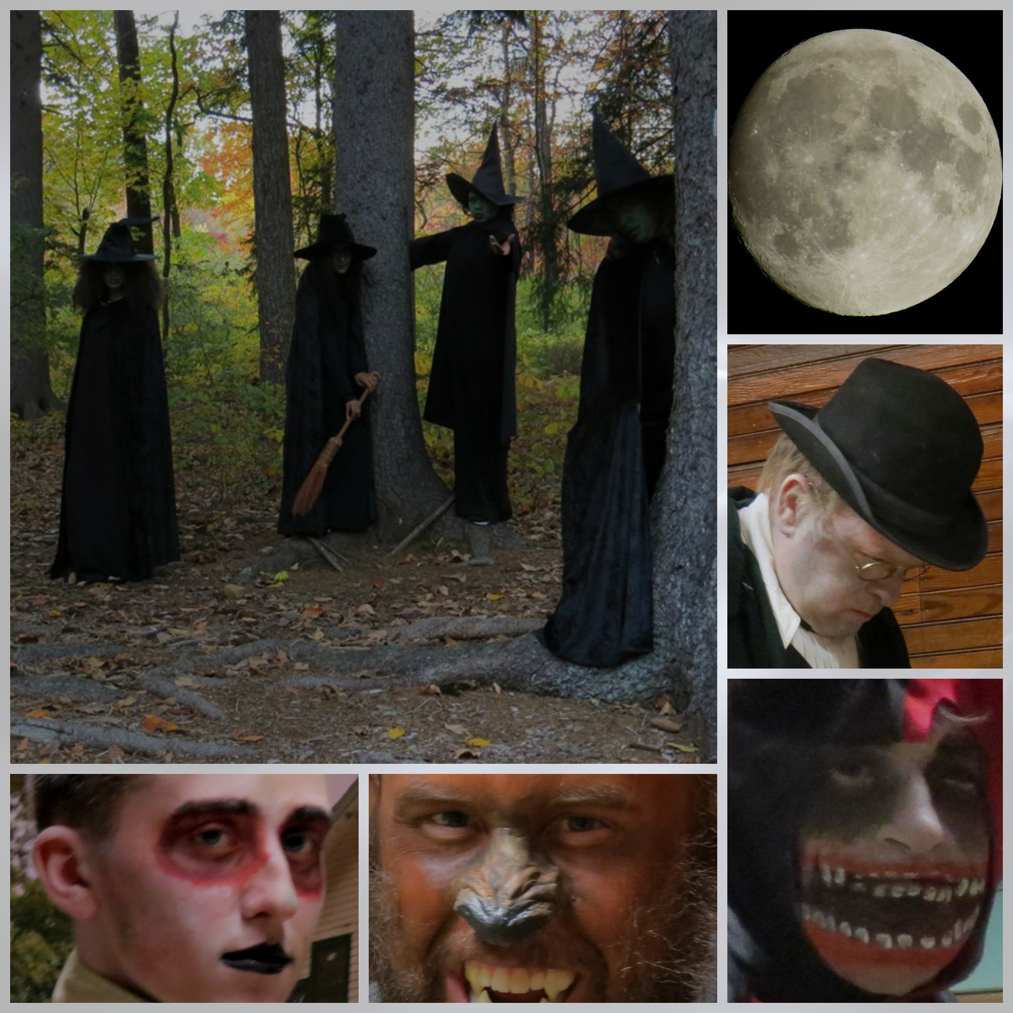 Haunted Hayride collage