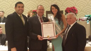 Miss Italy honored in Union County, NJ
