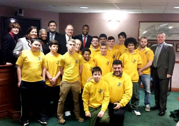 Scouts visiting Freeholder Board, Union County NJ