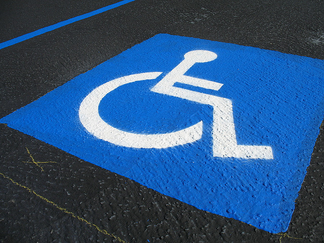 Handicapped parking (clipart)