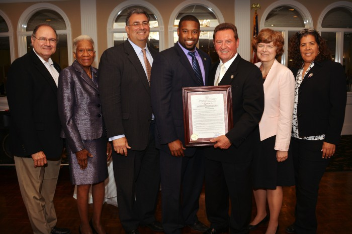 Union County Board of Chosen Freeholders presents resolution to UC Chief of Police Vaniska