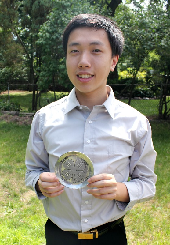 Union County NJ Adrian Lam 4H State Award