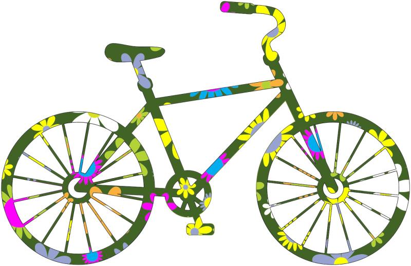 bicycle giveaway clipart