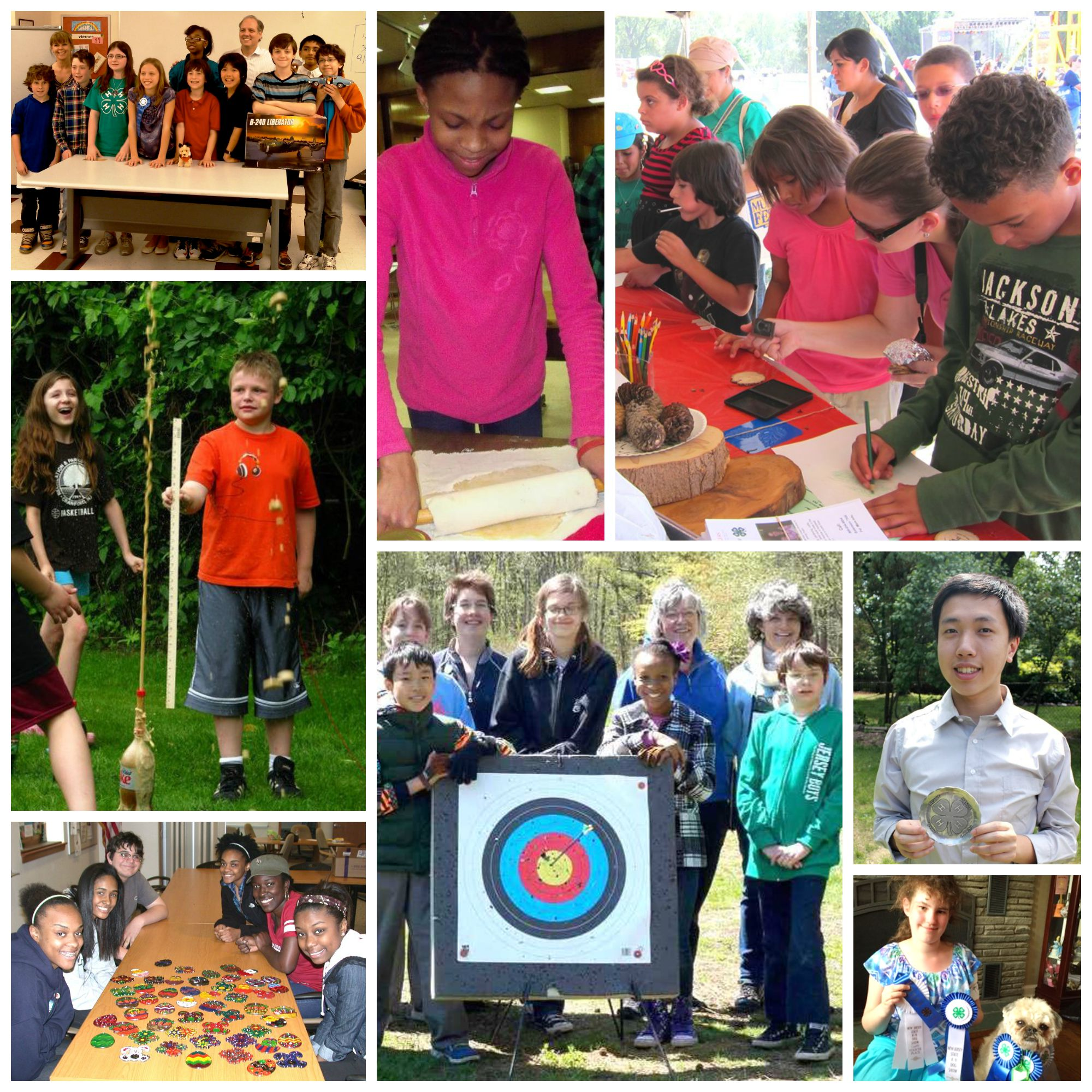 Union County NJ 4-H open house collage 2015