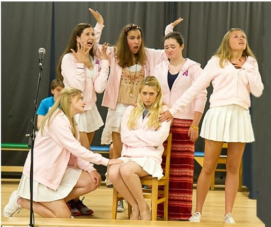 Members of the cast of Vanguard Theater Company's production of Legally Blond