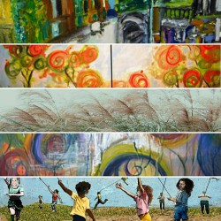 ): a selection of images as part of the Rahway Edition of Union County's Art Outside the Box project