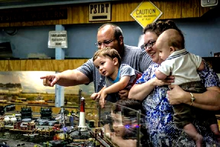 Union County NJ model trains Venckus Family