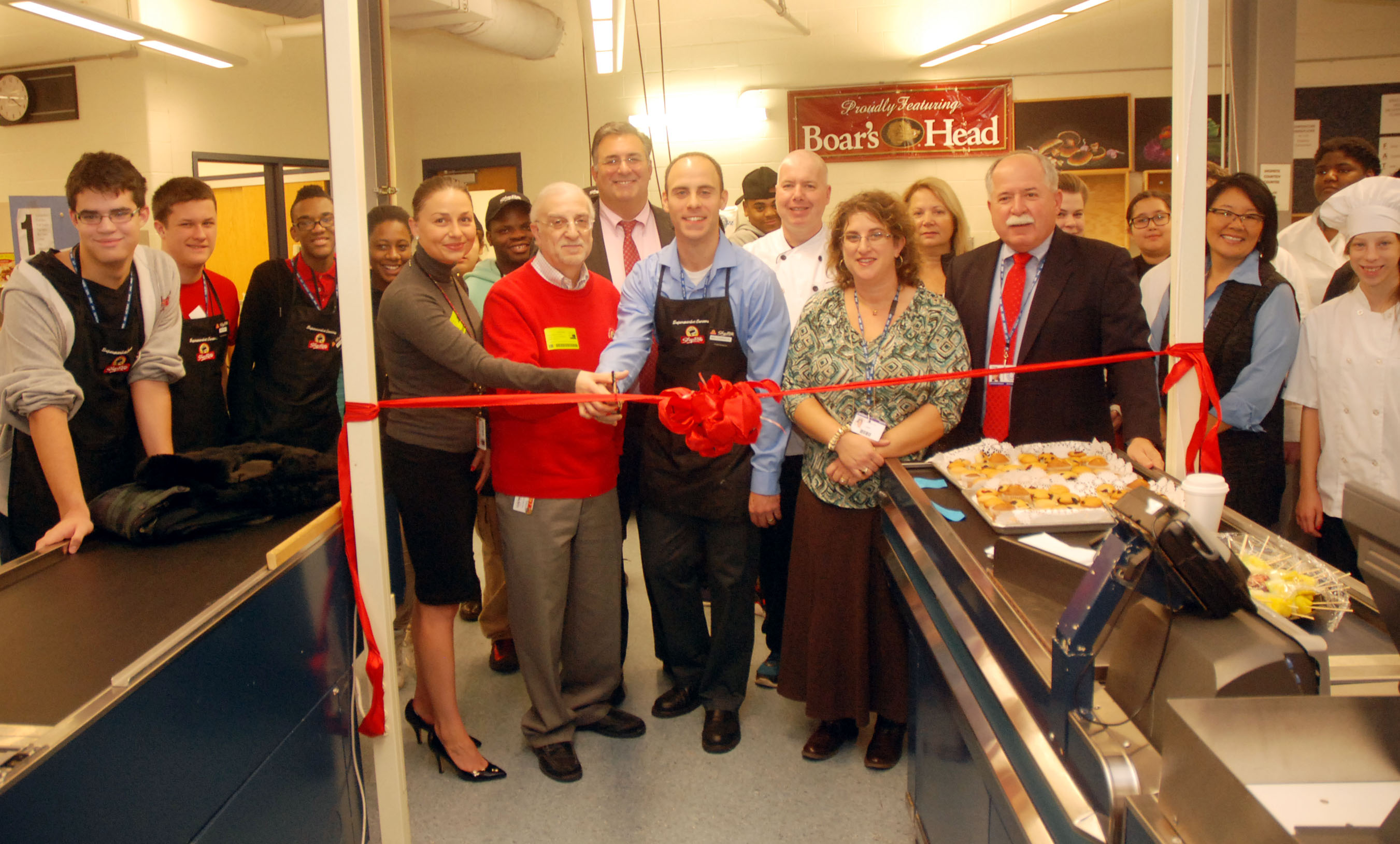 Training supermarket opens at union county vocational technical vo tech shoprite falaconquin