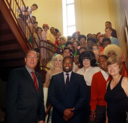Union County-based non-profit community theatre organizations are invited to apply now for the 2016 Union County Advancing Community Theatre (UCACT) grant program. Pictured above, Union County Freeholder Chairman Mohamed S. Jalloh, Vice Chairman Bruce H. Bergen and Freeholder Bette Jane Kowalski visited the Vanguard Theatre Company cast of Hairspray before their first performance at the Union County Performing Arts Center in Rahway last November. The production was sponsored by the Union County Board of Chosen Freeholders through the 2015 UCACT program.