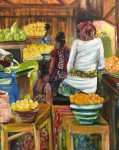 The new Westfield Art Association exhibit at the Freeholders Gallery in Elizabeth includes more than two dozen pieces in various media including Kigali, a work in acrylic by Virginia Carroll.