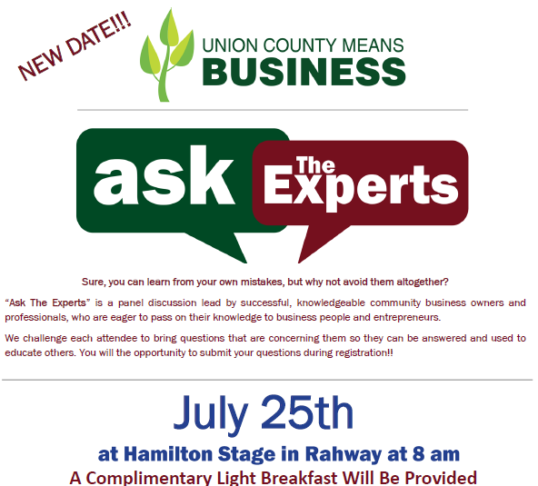 Ask the Experts – County of Union, New Jersey