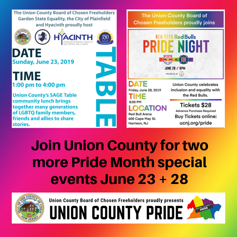 951b3fe44 Union County, NJ – In recognition of June as LGBTQ Pride month, the Union  County Board of Chosen Freeholders invites residents to participate in the  next ...